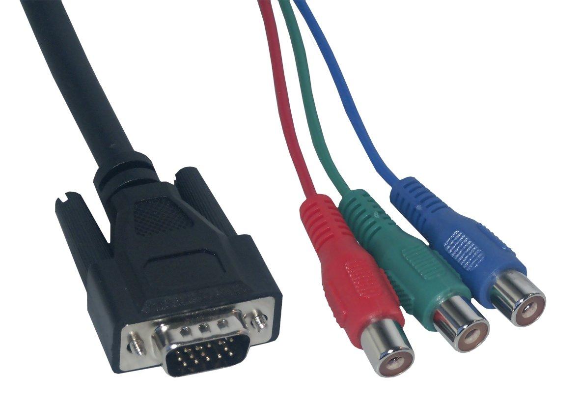 MCL Samar CG-224C Adaptateur VGA HD 15 m/âle//YUV femelle 20cm