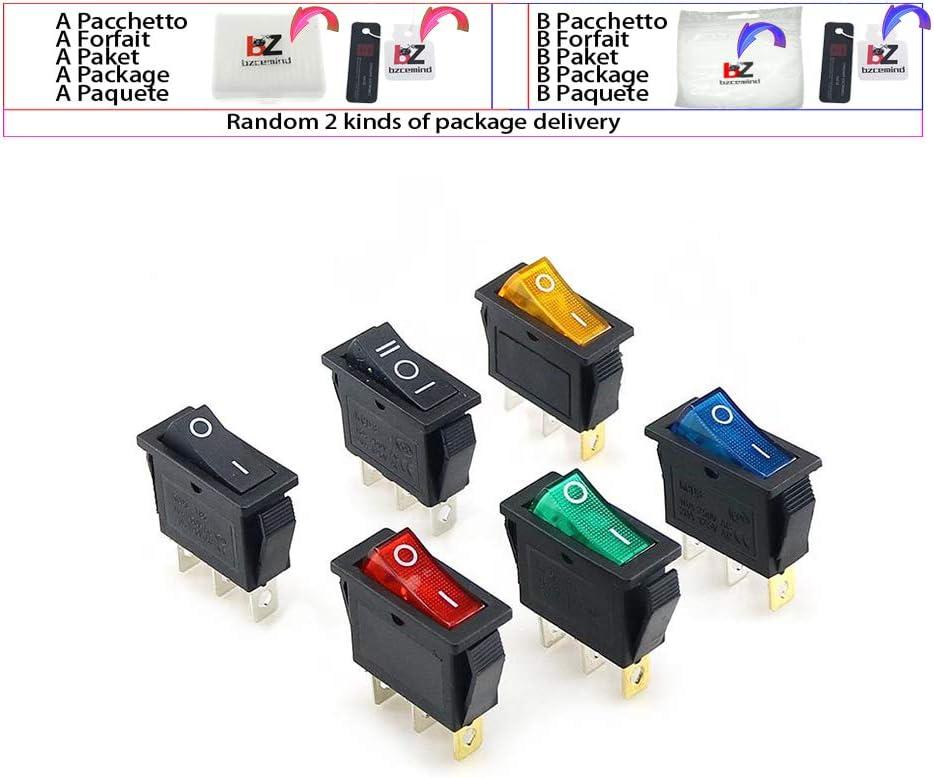 10PCS KCD11 3A//250V 3 Pin SPDT ON-OFF-ON 3 Position Snap Rocker Switch/&.ODUS