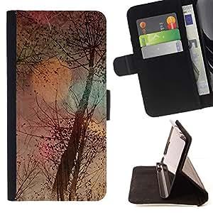 Momo Phone Case / Flip Funda de Cuero Case Cover - Pintura árbol Naturaleza Oto?o Arte Estaciones - Motorola Moto E ( 1st Generation )