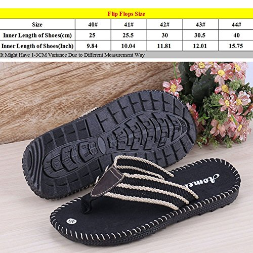 Linyuan Casual Style Non-slip Comfortable Mens Flip Flops Summer Sandals Beach Slippers Shoe Black