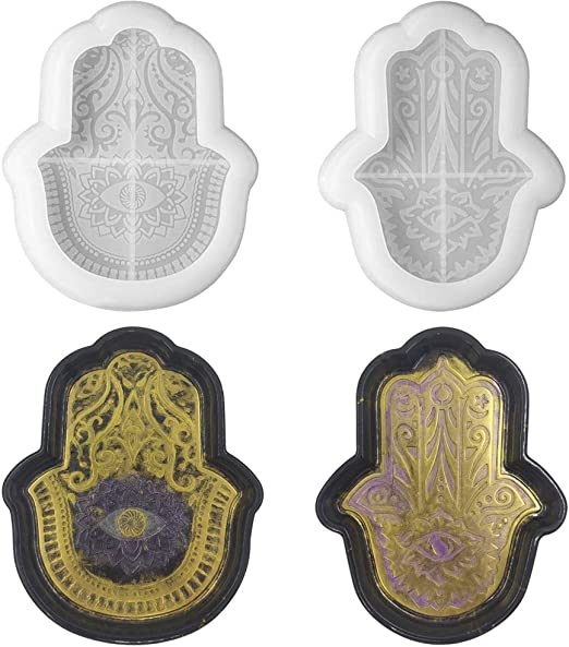 Hamsa Mold Resin Tray Mold Silicone Molds for Resin