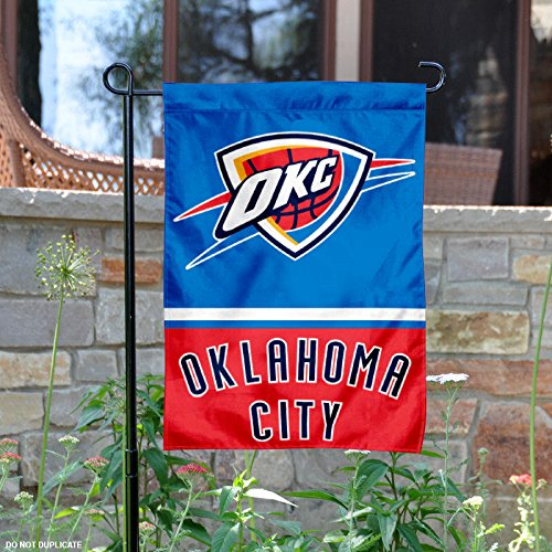 Oklahoma City Thunder Double Sided Garden Flag