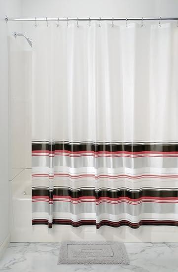 mDesign Duschvorhang - Größe: 180 x 200 cm, Farbe: Transparent ...