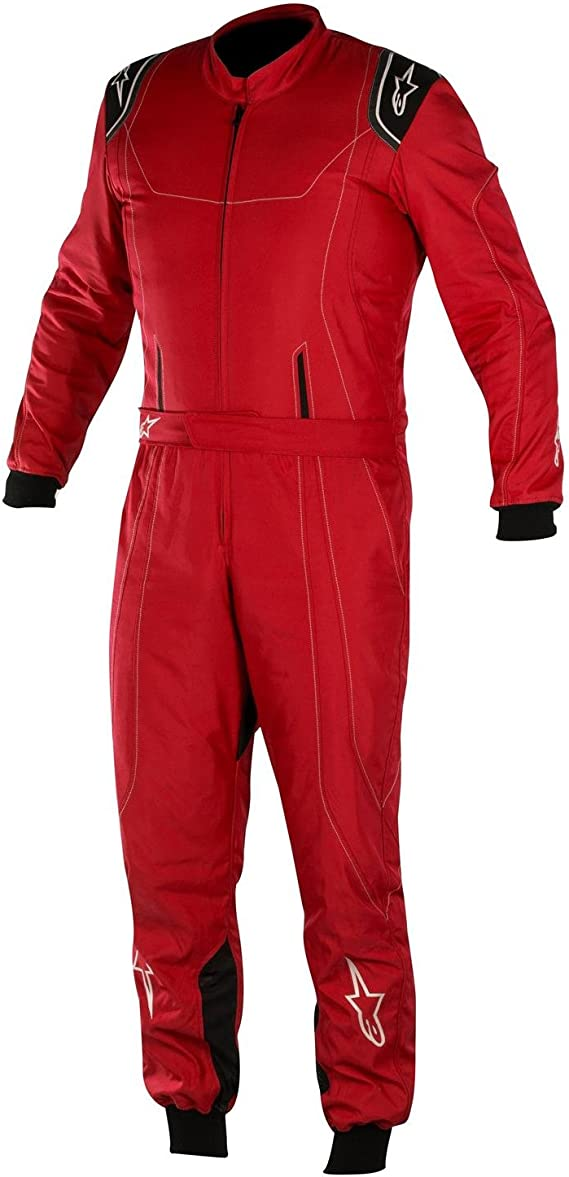 3353012-149-58 Anthracite//Silver//Red Size-58 K-MX 5 Kart Suit Alpinestars