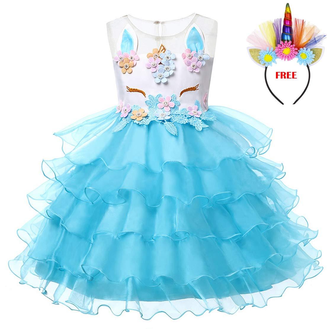 e70ccccee Lemonbaby My Little Pony Sleeveless Princess Birthday Party Dress Clothing