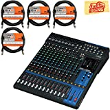 Yamaha MG16XU Mixer Bundle with XLR Cables and Polishing Cloth