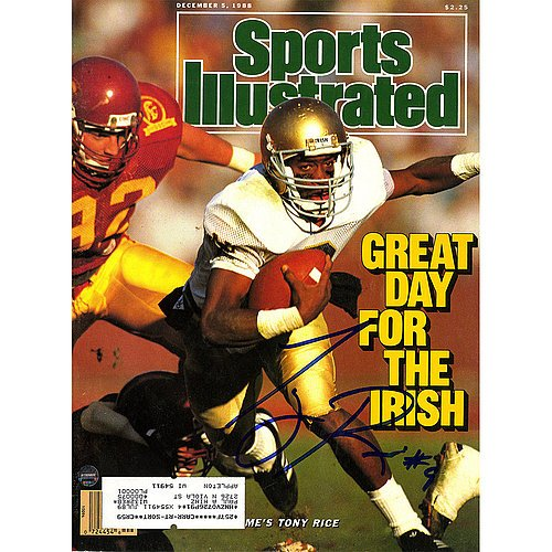 Tony Rice Signed 12/5/1988 Sports Illustrated Magazine