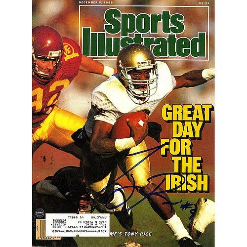 Tony Rice Signed 12/5/1988 Sports Illustrated Magazine