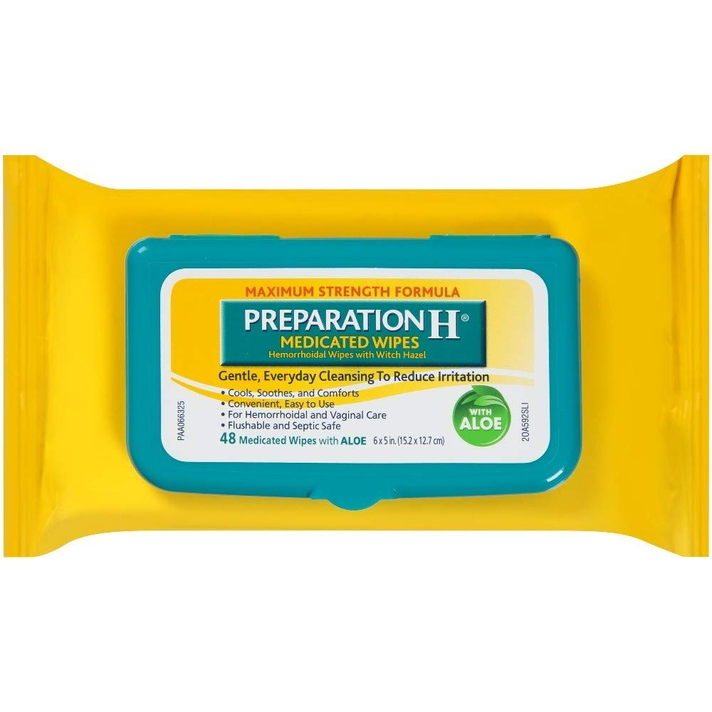 Preparation H Medicated Wipes 48 Each (Pack of 7) by Preparation H