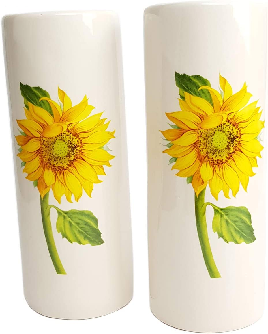 Set of 2 Ceramic Room Humidifiers for Radiators with Sunflowers | Vintage Style | Humidifier Evaporator Radiator Heating