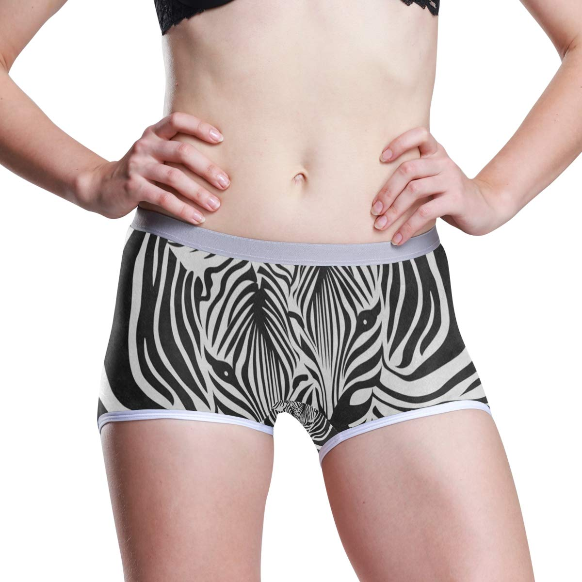 Womens Regular /& Plus Size Underwear,Funny White Polar Bear Stretch Boxer Briefs Boyshort Anti-Glare Panties for Girls