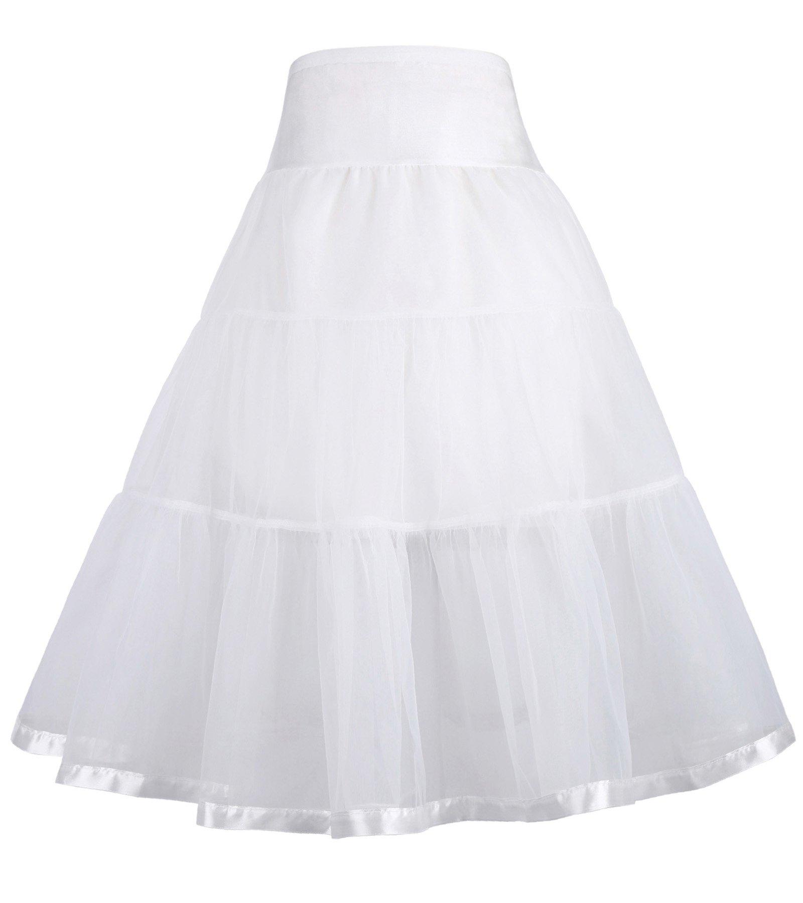 GRACE KARIN Girls Voile Layered Tutu Ruffle Skirt for Dance 7-9 yrs 480-2