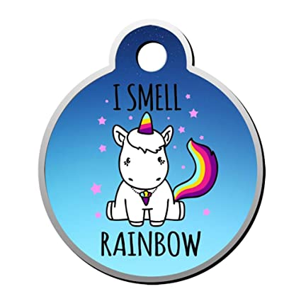 26a281ca432c Amazon.com: Rainbow Unicorn Luggage Tag Kids ID Tags Duplex Printed ...