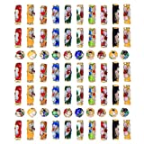TecUnite 70 Pieces Cloisonne Handmade Beads Enamel Tube Bead for Arts Crafts DIY, Assorted Shapes and Colors