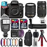 Holiday Saving Bundle for D810 DSLR Camera + 18-140mm VR Lens + Tamron 70-300mm Di LD Lens + Battery Grip + 6PC Graduated Color Filer Set + 2yr Extended Warranty + 32GB - International Version