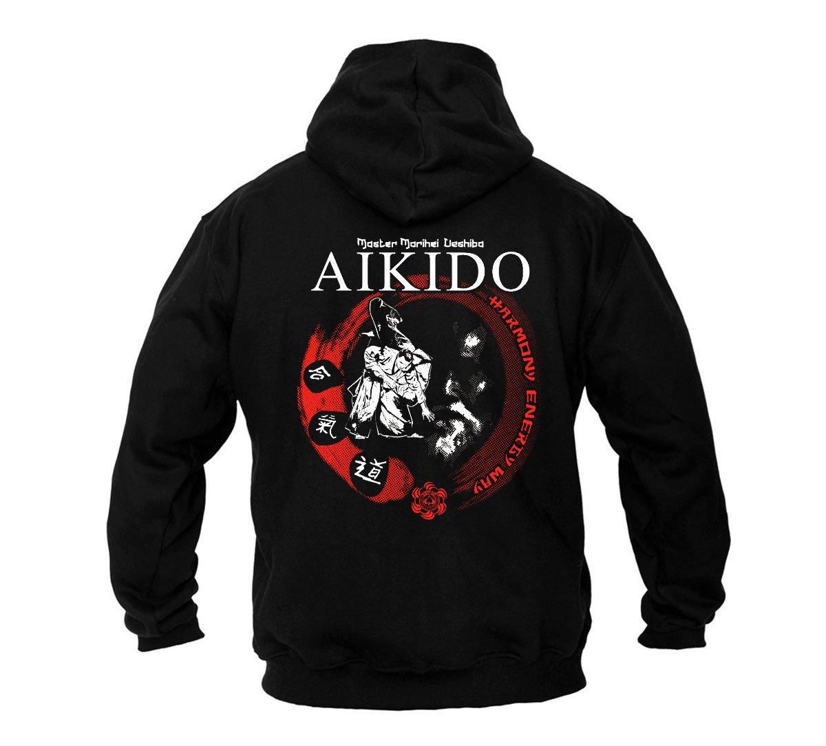 Dirty Ray Arti Marziali Aikido Felpa uomo con cappuccio BDT20