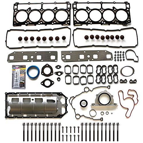 ECCPP Replacement for Engine Full Gasket Set w/Bolts for 03 04 05 06 07 08 Jeep Grand Cherokee Chrysler 300 Aspen Dodge Ram Charger Magnum 5.7L V8 OHV Head Gaskets Kit