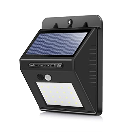 Vingtank 20-LED luces de sensor de movimiento solar, impermeable infrarrojo humano PIR Sensor