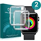 Apple Watch 42mm ケース/フィルム Dalinch Apple Watch ケース 耐衝撃 フルカバー 装着簡単 TPU全面保護ケース For Apple Watch Series 3 / 2 / 1 / Hermes / Nike+ Edition (2枚 42MM 透明)