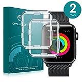 Apple Watch 42mm ケース/フィルム Dalinch Apple Watch ケース 耐衝撃 フルカバー 装着簡単 TPU全面保護ケース For Apple Watch Series 3 / 2/ Hermes / Nike+ Edition (2枚 42MM 透明)