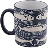 Harbour Stoneware Mug Blue Fish Design Sold & Dispatched By Katie Malone House & Home