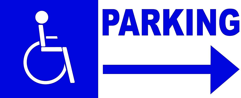 Panneau dacc/ès parking handicap/é direction droite