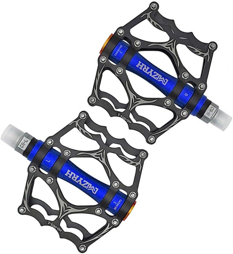 "Aluminum 9//16/"" Pedals Cycling Mountain MTB Bike Bicycle 3 Bearing Platform Pedal"