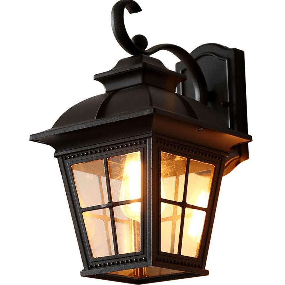 屋外の防水バルコニーの壁ランプ、正方形のアルミニウム鋳造物庭の屋外のドアライト中庭の通路ランプ B07TRXQF95