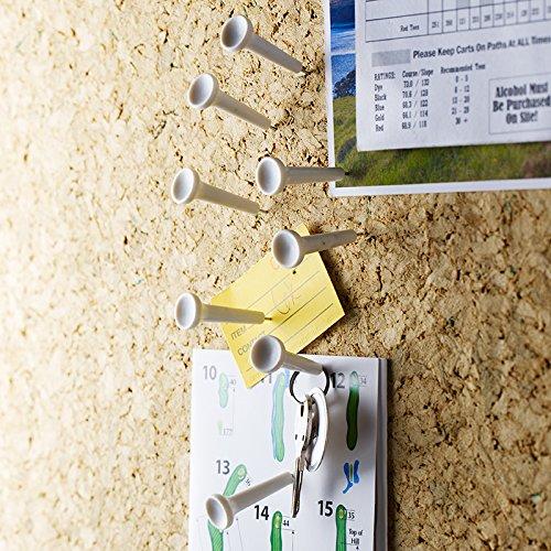 Design Ideas TEE TIME WHITE, set of 8 Golf Tee Shaped Push Pin Pushpins Memo Holder #3206007