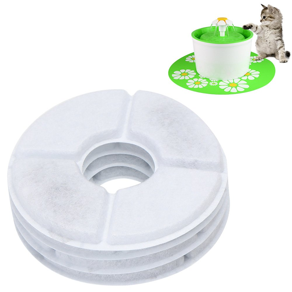 Safe for Dogs Cats Blue ele ELEOPTION Premium Quality Silicone Pad Non-slip Mat for 1.6 L Automatic Flower Water Fountain