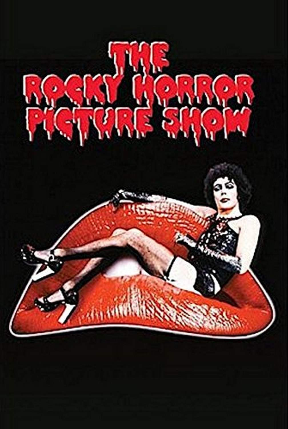 Buyartforless Tim Curry Lips The Rocky Horror Picture Show 1975 36x24 Movie Dressed in Drag Poster, Print, Decorative Accent, Wall Art, Multi-Color