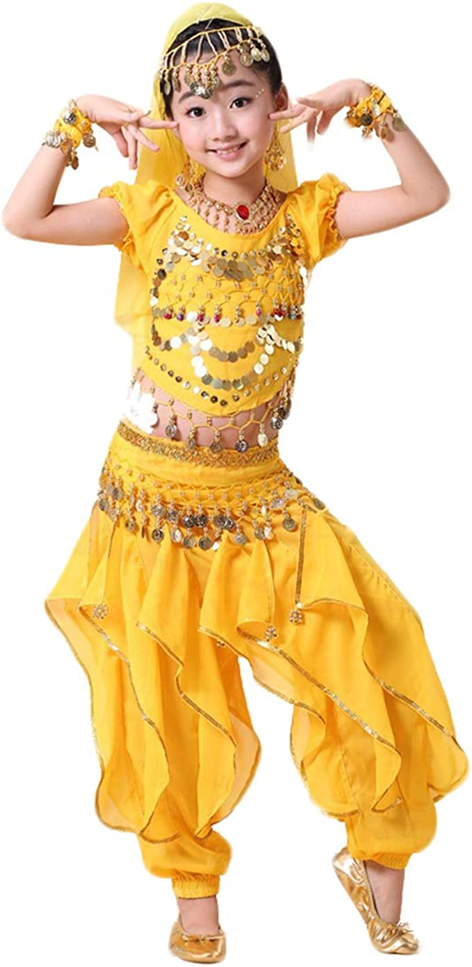 Gaga city Traje de Danza del Vientre Niña/Mujer 4Pcs Disfraces ...
