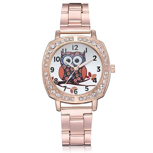 Relojes de Mujer Rosa 2018 Rhinestone Moda Elegantes de Pulsera por ESAILQ: Amazon.es: Relojes