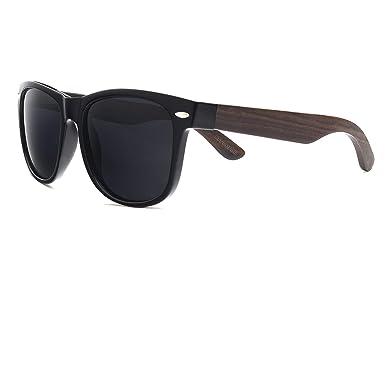 6d449811941 Ablibi Mens Dark Sunglasses Polarized Wooden Glasses for Men Women in  Original Box