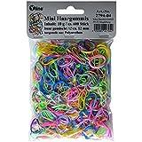 Haargummis für Kinder dünn, ca. 600 Stück, 12 mm, bunt, Mähnengummis Mini Rasta Haar Gummi...