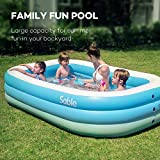 Sable Inflatable Pool, Family Swim Center Pool for Kids, Adults, Backyard, Outdoor, 92'' X 56'' X 20'', for Ages 3+