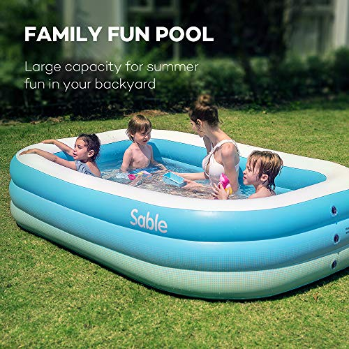 Sable Inflatable Pool, Family Swim Center Pool for Kids, Adults, Backyard, Outdoor, 92