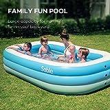 Sable Inflatable Pool, Blow up Kiddie Pool for