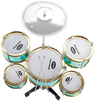 Instrumento de percusión Simulación Jazz Drum Juego de instrumentos musicales for niños, Sweetheart Childrens Juguetes grandes de cinco tambores for niños con sillas con soporte Juguetes for niños: Amazon.es: Juguetes y juegos
