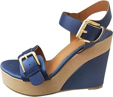 Women's Wedge Sandals Summer Buckle