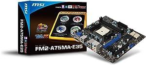 MSI AMD A75 MicroATX DDR3 2133 370 Motherboards FM2-A75MA-E35