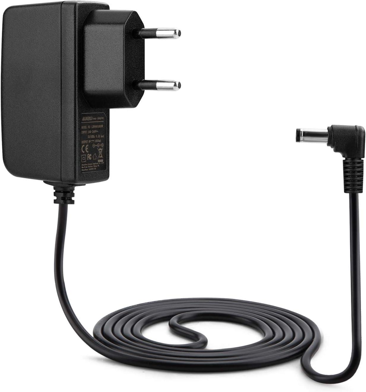 Aukru® 9V 1000mA alimentador Cargador 5.5mm x 2.1mm para Arduino Uno REV 3
