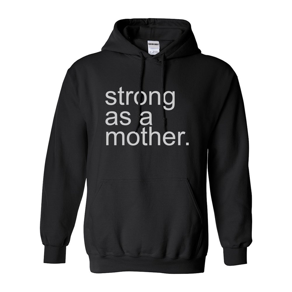 dce7183416c Amazon.com  Strong As A Mother Mom Life Pullover Hoodie  Clothing
