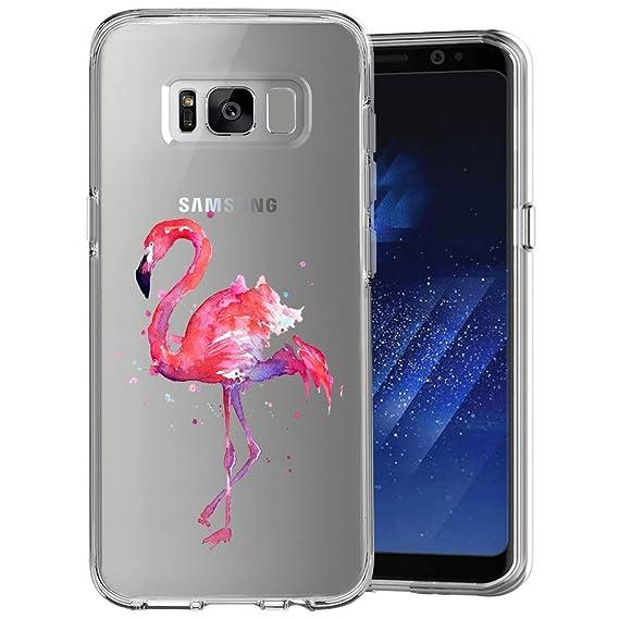 best website 25085 cf3cd Amazon.com: Phone Case Samsung Galaxy S8 Flamingo,ChyFS Phone Clear ...