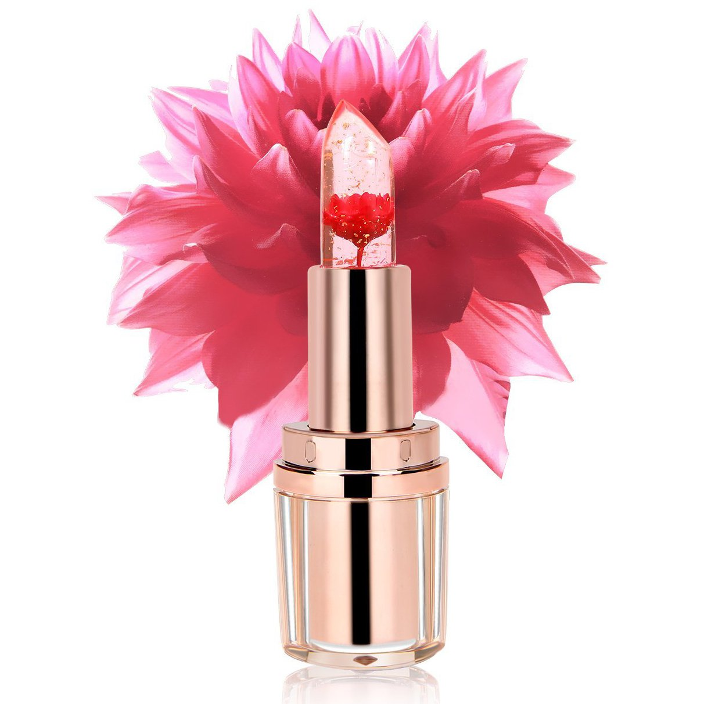Amazon.com : PrettyDiva Jelly Flower Lipstick Barbie Pink Mood Color ...