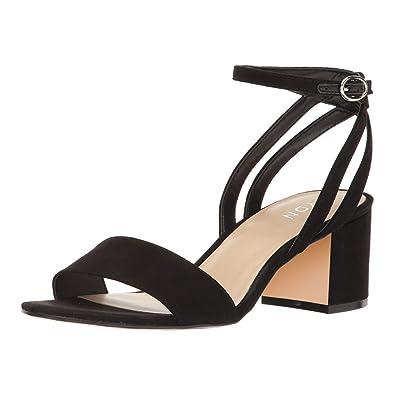 ff93e531d0 YDN Women's Strappy Block Low Heel Sandals Ankle Straps Suede Slingback  Pumps Office Shoes Black 4