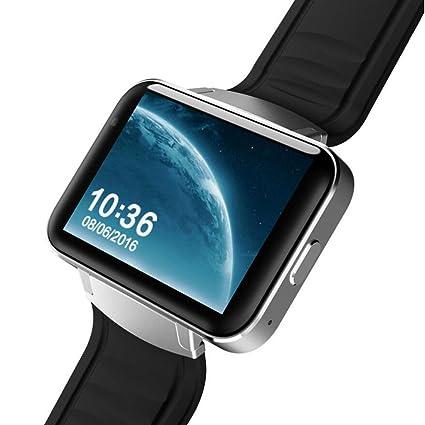 MXueei Relojes inteligentes ZfgG Smart Watch WiFi Android Step 3G Pantalla Gigante Navegación GPS Dual Core