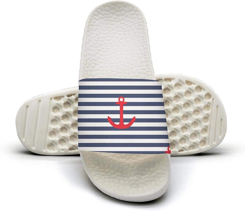Anchor sailboat hear white Mens sliders Slide Sandal