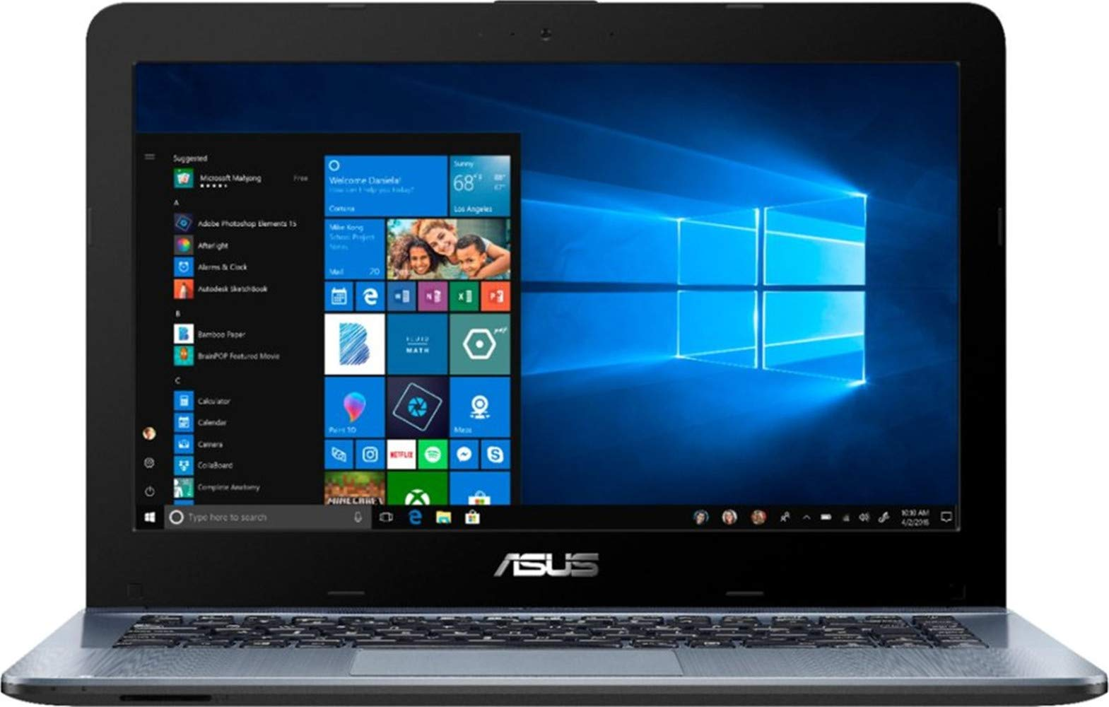 ASUS Vivobook 2019 Premium 14 HD Non-Touch Laptop Notebook Computer, 2-Core AMD A6 2.6GHz, 8GB DDR4 RAM, 500GB HDD 1