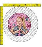 "JoJo Siwa Heart Birthday Edible Frosting Image 4"" Round Cake Topper"